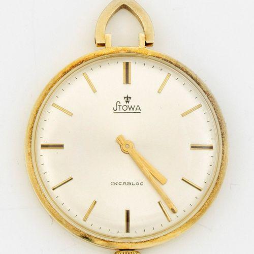 Stowa Frackuhr mit Uhrenkette aus den 60er Jahren Or jaune, marqué 585. Boîte de…
