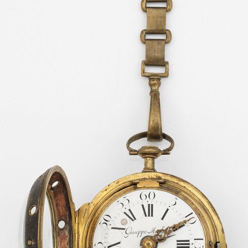 Barock Kutschenuhr par Giuseppe Meghele dite horloge d'entraîneur. Laiton avec r…