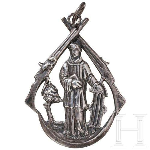 Anhänger einer Schützengilde, Niederlande oder flämisch, 17./18. Jhdt. Silver pe…