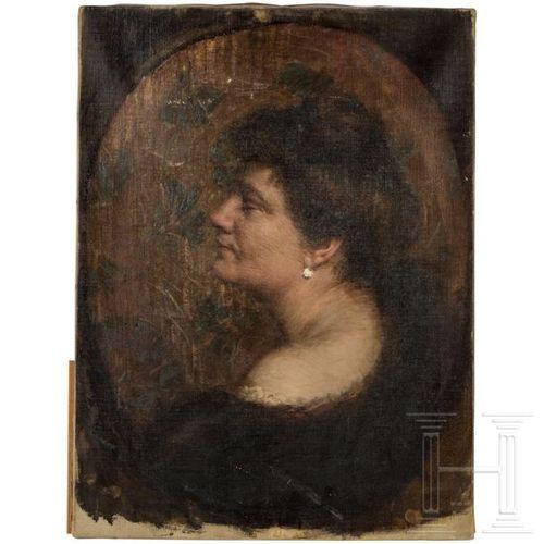 A lady's portrait, Munich or Vienna, ca. 1910 Huile sur toile. Portrait d'une da…