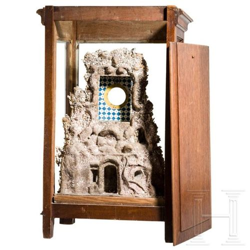 An extraordinary Italian pocket watch stand, Trapani, 19th century Structure en …