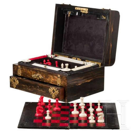 A rare English games compendium belonging to the Krupp family, London, late 19th…