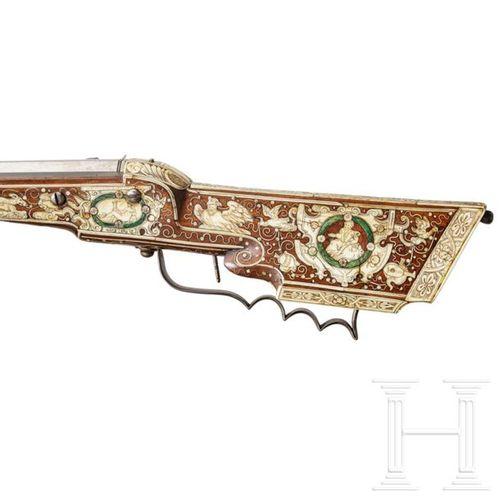 A profusely bone inlaid South German Renaissance wheel lock carbine, circa 1580 …