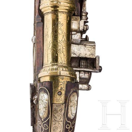 A rare mortar wheellock pistol with a bronze barrel, Nuremberg, circa 1590 Le ca…