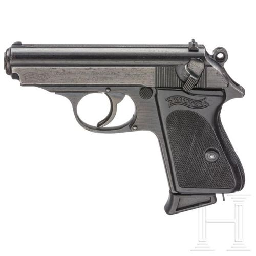 Walther PPK, ZM, letzte Ausführung Cal. 7,65 mm Brun, SN. 410347k, numéros ident…