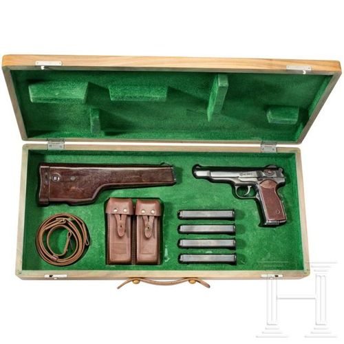 A Stechkin APS full automatic pistol, in presentation case Cal. 9 mm Mak., SN. H…