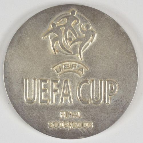 Porto's commemorative medal for the 2003 UEFA Cup final against Celtic Glasgow o…
