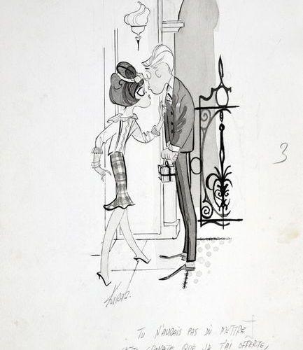 KIRAZ (Edmond Kirazian / 1923) LES PARISIENNES Tu n'aurais pas dû mettre cette c…