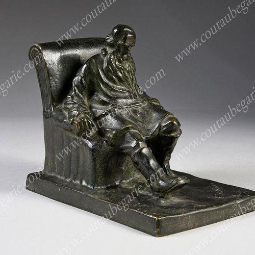 ZELIKSON Serge (1890 1966). Leo Tolstoy sitting in an armchair (1828 1910). Bron…