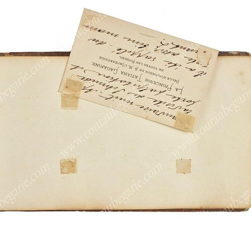 ALBUM AMICORUM OF PRINCESS TATIANA GAGARINA (1834 ??), Maid of Honour of Empress…