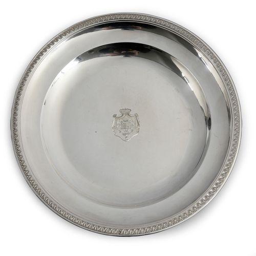 SERVICE DE TABLE DU BARON GOURGAUD, PARIS, 1819 1838. Ensemble de 12 assiettes l…