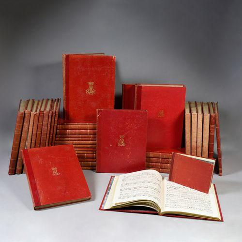 BIBLIOTHÈQUE MUSICALE DE LA DUCHESSE DE BERRY. Ensemble de 32 grands volumes, in…
