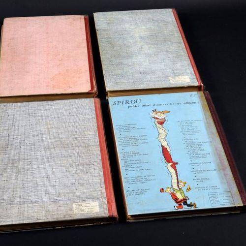 ALBUMS SPIROU N°35, 36, 37 et 38. Reliures éditeur. 35 (TBE), 36 (TBE), 37 (TBE)…