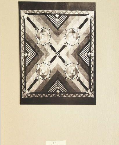 DUCHARNE 28 Compositions de Michel Dubost pour des tissus réalisées par les Soie…