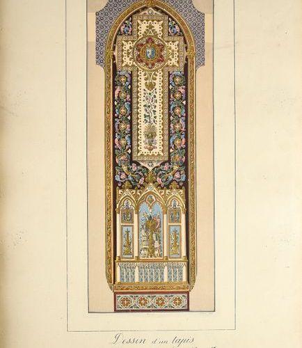DUMONTHIER (E.) Recueil de dessins de tapis et de tapisseries d'ameublement du M…