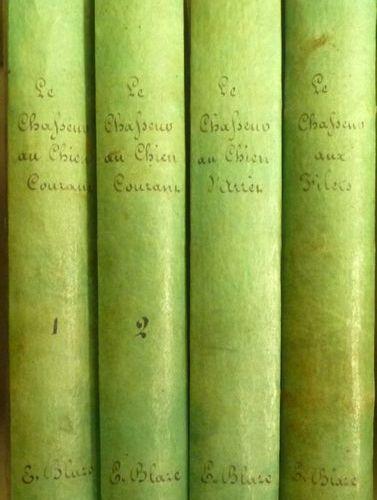 Ens. De 3 ouvrages de chasse De la bibliothèque d'Elzéar Blaze BLAZE, Elzéar Le …