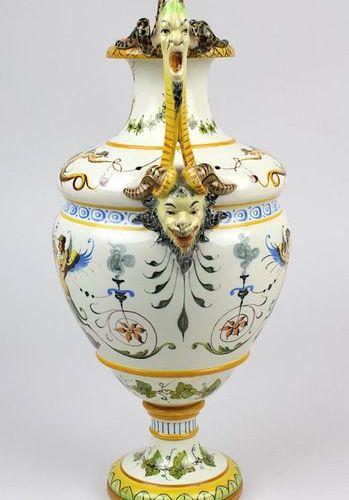 Vase à anse Ginori Majolica, Doccia (Toscane) vers 1880, d'après un modèle itali…