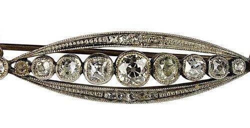 Broche Art nouveau avec diamants de taille ancienne, allemande vers 1910, broche…