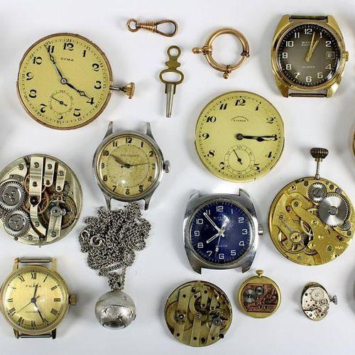 Ensemble de montres et d'horloges, principalement de la seconde moitié du XXe si…