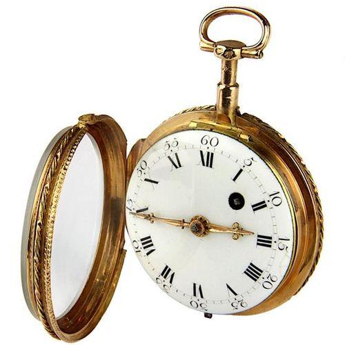 Montre de poche à fuseau d'or, Paris vers 1809, boîte en or rose 18 carats avec …