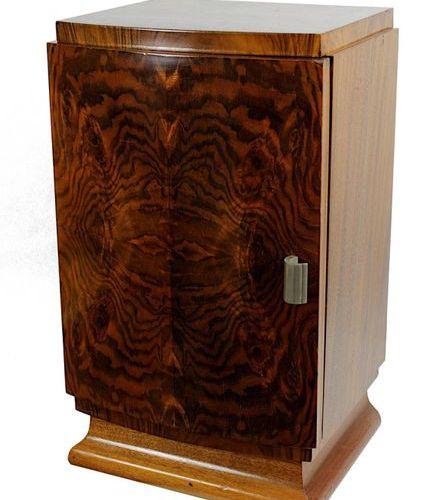 Petite armoire, Art déco, 1er Dr. Allemand du XXe siècle, chevet en bois tropica…