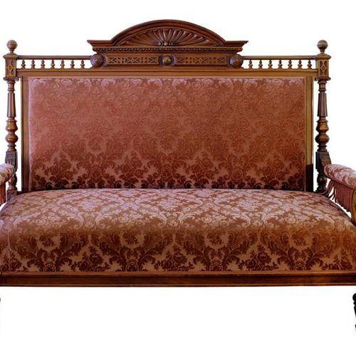Ensemble de sièges, Historisme, allemand vers 1880/90, composé de : Canapé, 2 fa…