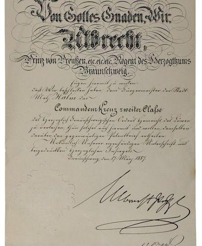 Albrecht Prince de Prusse, Prince Régent du Duché de Brunswick (1837 1906), docu…