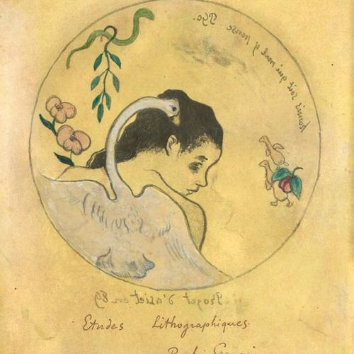 PAUL GAUGUIN (1848 1903) Léda plate project Zincography on paper coloured in yel…