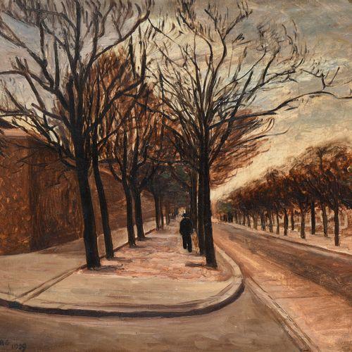 ANDRÉ HAMBOURG (1909 1999)  Boulevard Edgar Quinet, quartier Montparnasse, 1929 …