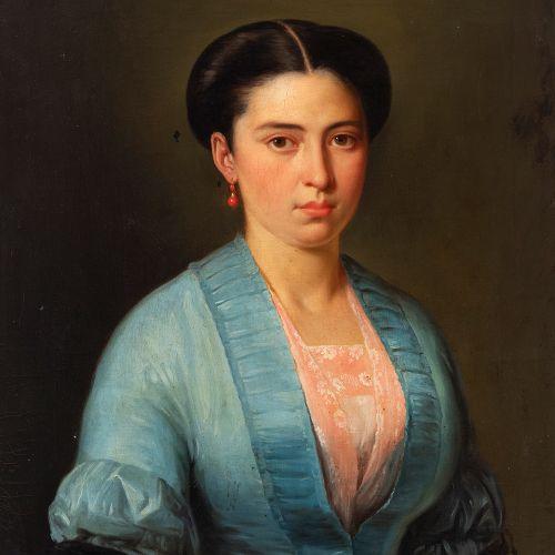 "CIRCLE OF CARLOS LUIS DE RIBERA (Rome, 1815 Madrid, 1891), circa 1850. ""Portrait…"