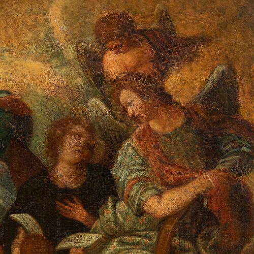"""Spanish or Italian school; 17th century. """"Coronation of the Virgin"""" Oil on canva…"""