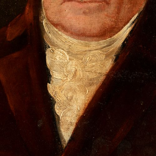 """Spanish school; first third of the 19th century. """"Portrait of a gentleman. Oil o…"""