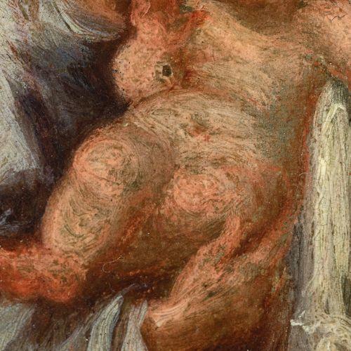 "Spanish school; 18th century. ""San Jose with Child"". Oil on bronze. École espagn…"