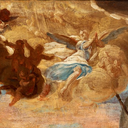 "Spanish school; second half of the 18th century. ""Allegory"". Oil on canvas. Reli…"