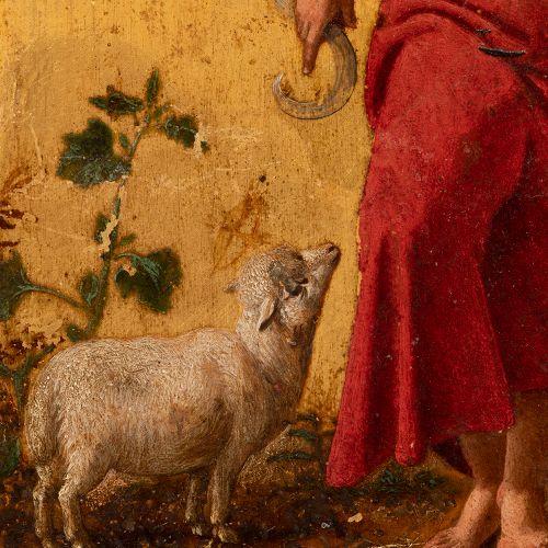 "Italian school; ca. 1600. ""San Juan Bautista"". Oil on gilded bronze. École itali…"