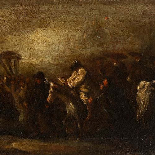 """Attribution to EUGENIO LUCAS VELAZQUEZ (Madrid, 1817 1870) """"Condemned by the Inq…"""