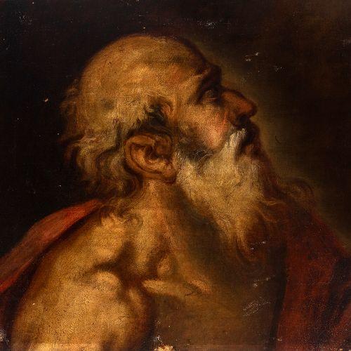 "Spanish school; second half of the 17th century. ""Saint Jerome"". Oil on canvas. …"
