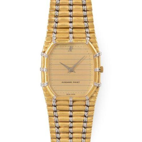 AUDEMARS PIGUET Octagonal wristwatch 80s with quartz movement in 750 yellow and …