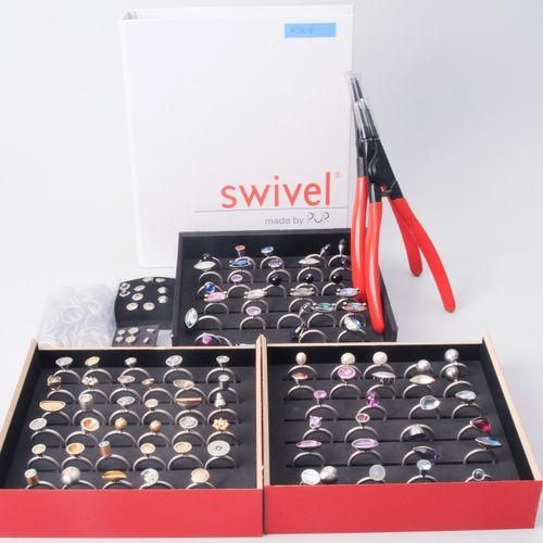 Lot: Swivel Kollektion Acier/or jaune avec une variété de perles, de pierres de …