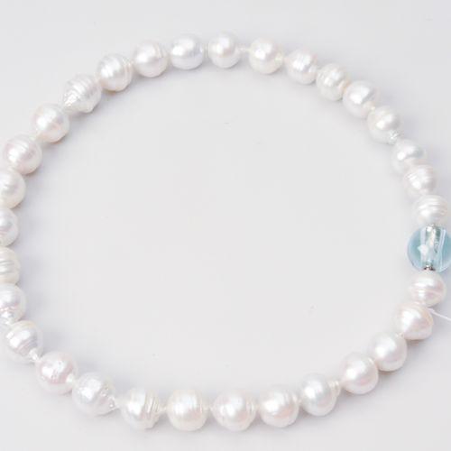 Kulturperlen Collier Or blanc 750. 31 perles des mers du Sud 12,2 13 mm Ø. Nœud …