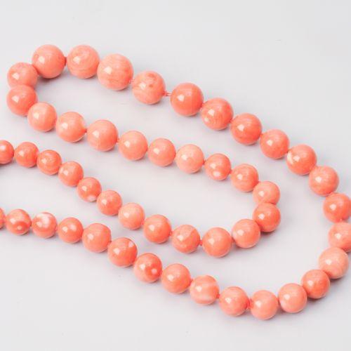 Korallen Collier Or jaune/blanc 750. Boules de corail 10 16.7 mm Ø. Il faudrait …