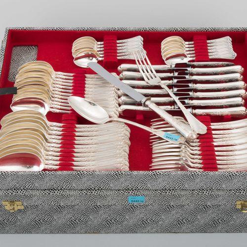 Besteckservice Brême, 20e s. Argent, 100 pièces. Marque du fabricant Koch & Berg…
