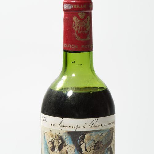 Château Mouton Rothschild 1973. 1èr Grand Cru. Pauillac. 1 bouteille. (Niveau de…