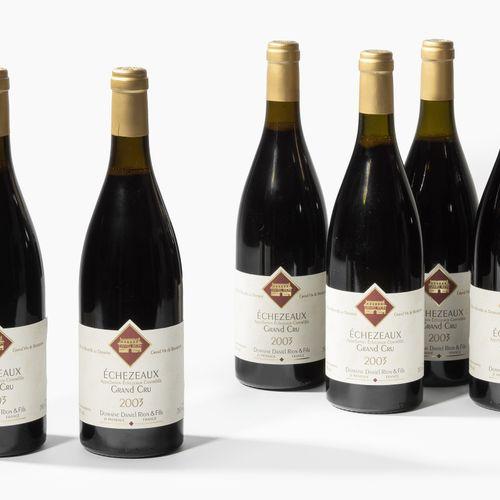 Echezeaux 2003. Grand Cru. Côte de Nuits. Domaine Daniel Rion&fils. 6 bouteilles…
