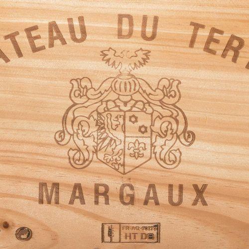 Château du Tertre 2003. 5ème Cru. Margaux. Boîte en bois d'origine. 6 bouteilles…