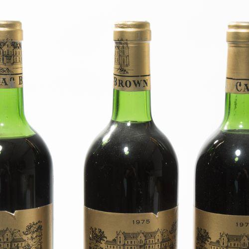 Château Cantenac Brown 1975. 3ème Cru. Margaux. 8 bouteilles.