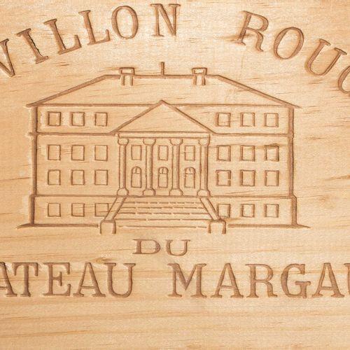 Pavillon Rouge 1997. 2e Vin du Château Margaux. Boîte en bois d'origine. 6 boute…