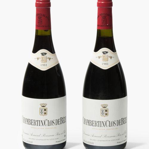 Chambertin 1981. Clos de Beze. Grand Cru. Domaine A. Rousseau. Deux bouteilles.