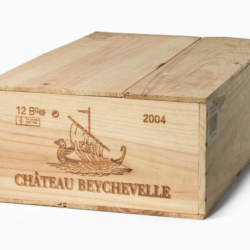 CHÂTEAU BEYCHEVELLE 2004. 4ème Cru. St. Julien. Boîte en bois originale. 12 bout…