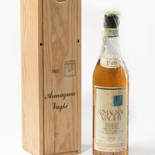 Armagnac Vaghi 1969. Baron de Sigognac. 1 bouteille.